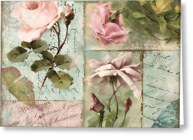 Belles Fleurs I Greeting Card by Mindy Sommers