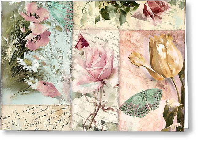 Belles Fleurs II Greeting Card by Mindy Sommers