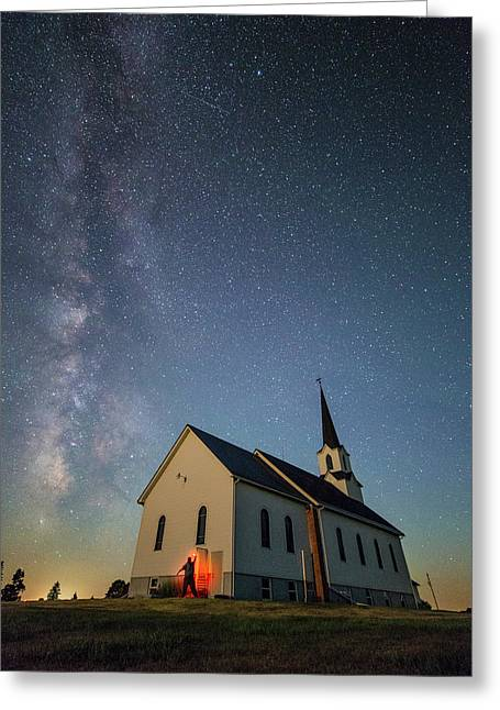 Greeting Card featuring the photograph Belleview Selfie  by Aaron J Groen