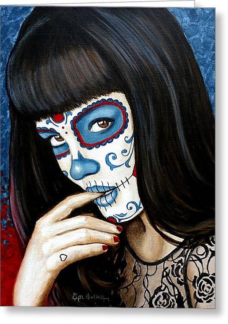 Belleza De Encaje Y Corazo Greeting Card by Al  Molina