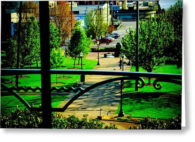 Bellingham Washington Park Greeting Card by Craig Perry-Ollila