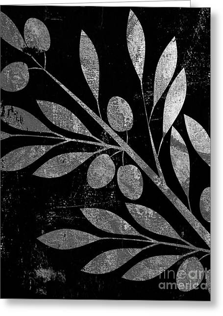 Bellisima Silver Greeting Card by Mindy Sommers