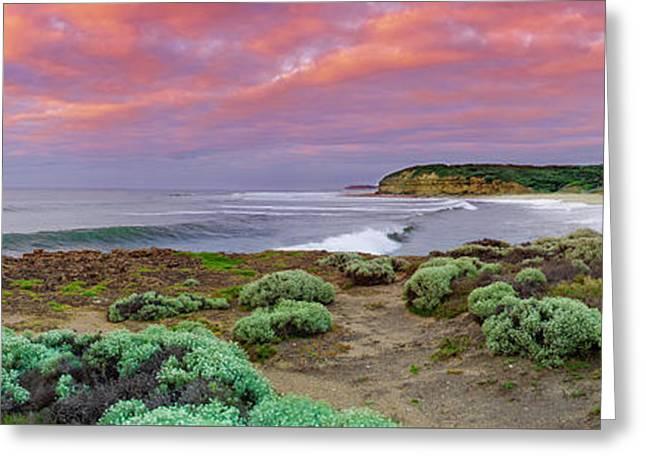 Bells Beach Pastels Greeting Card by Sean Davey