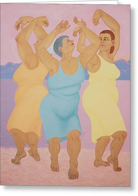 Belly Dance On Beach Greeting Card by Diana Kordas