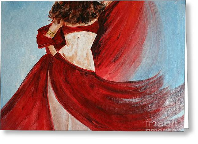 Belly Dancer Greeting Card by Julie Lueders