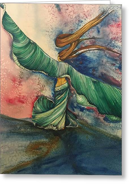 Belly Dancer With Wings  Greeting Card