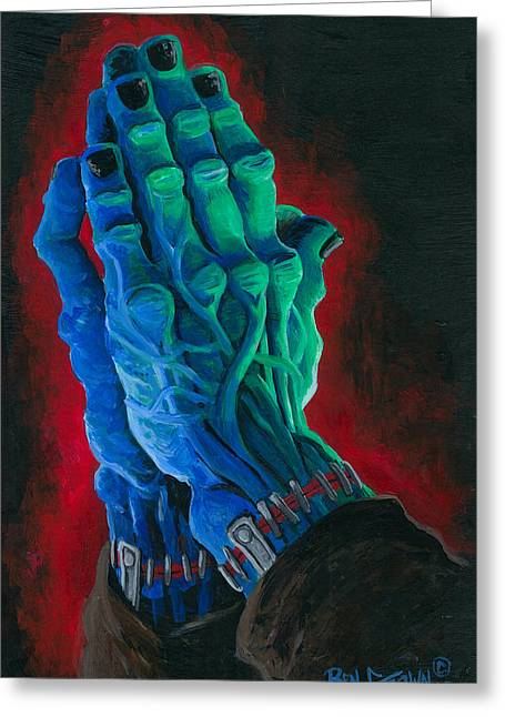 Universal Paintings Greeting Cards - Belong Dead Greeting Card by Ben Von Strawn