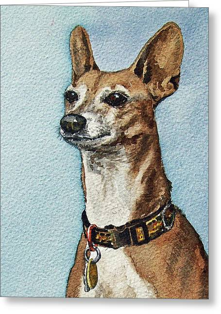 Beloved Dog Greeting Card by Irina Sztukowski