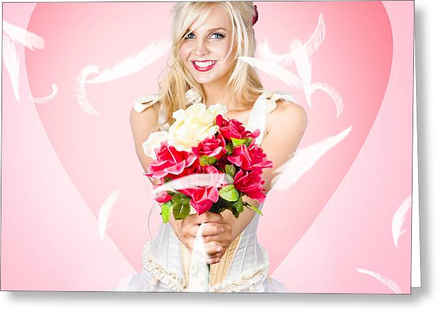 Beloved Flower Girl. Be My Valentine Greeting Card by Jorgo Photography - Wall Art Gallery