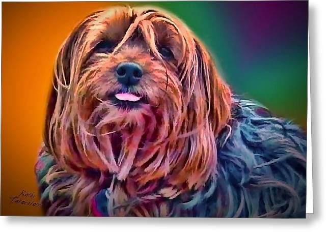 Beloved Maggie Greeting Card by Kathy Tarochione