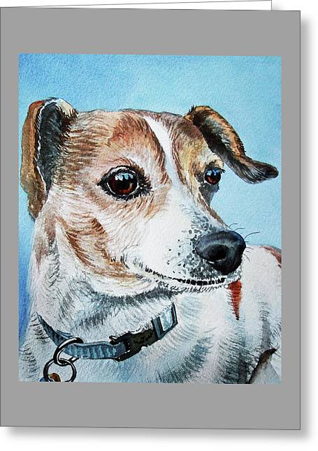 Beloved Puppy Dog Greeting Card by Irina Sztukowski