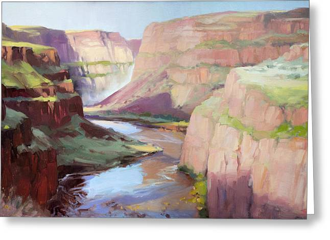 Below Palouse Falls Greeting Card