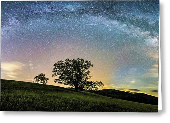 Below The Milky Way At The Blue Ridge Mountains Greeting Card