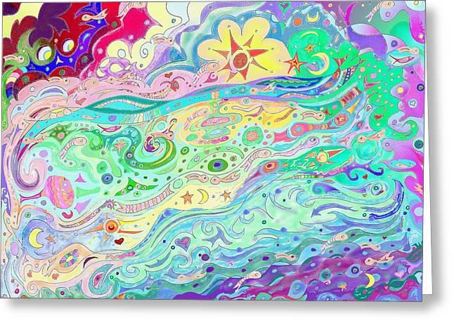 Beltaine Seashore Dreaming Greeting Card