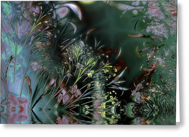 Beltane Dragonfly Night Greeting Card by Mindy Sommers