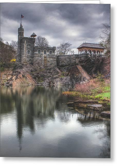 Belvedere Castle Vertical Greeting Card by Ariane Moshayedi