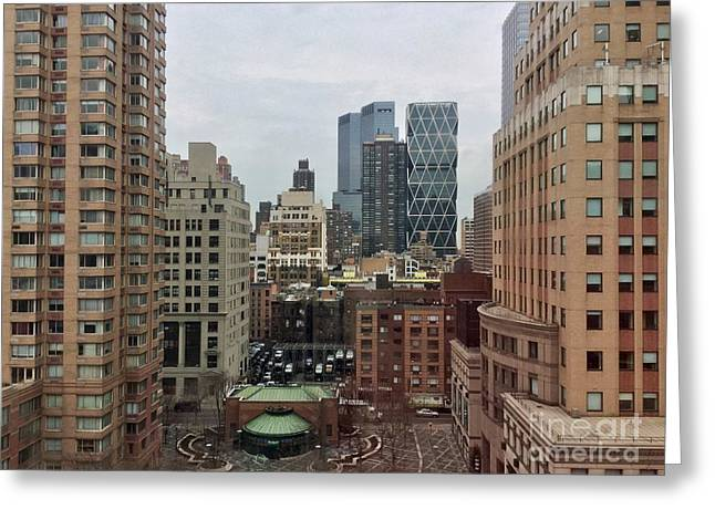 Belvedere Hotel New York City  Room With A View Greeting Card