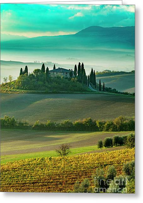 Greeting Card featuring the photograph Belvedere - Tuscany II by Brian Jannsen