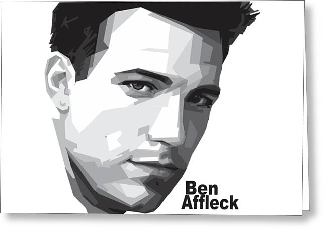 Ben Affleck Portrait Art Greeting Card by Madiaz Roby