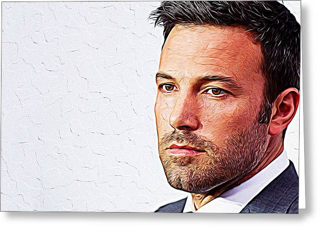 Ben Affleck Greeting Card by Iguanna Espinosa