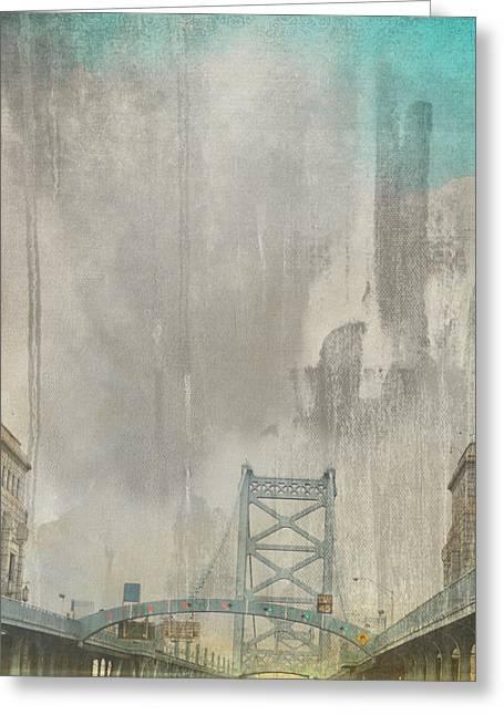 Ben Franklin Bridge Philadelphia Pa Greeting Card by Brandi Fitzgerald