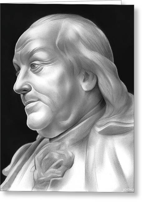 Ben Franklin Greeting Card by Greg Joens