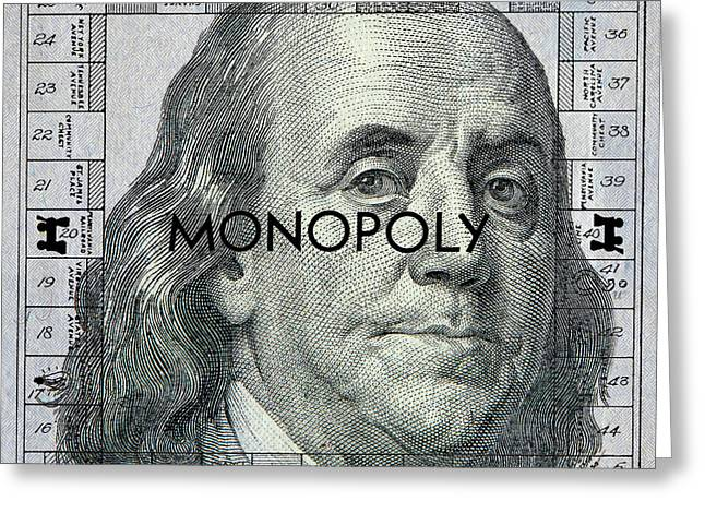Ben Franklin Monopoly Greeting Card