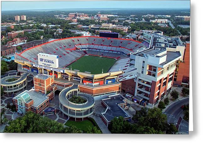 Ben Hill Griffin Stadium - Home Of The U Of Florida Gators Football Team Greeting Card