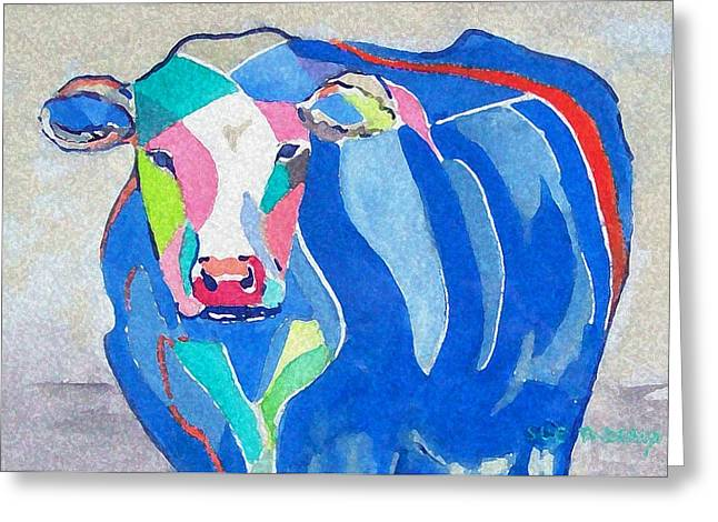 Ben Jerrys Cow Fantasy Greeting Card by Sue Prideaux