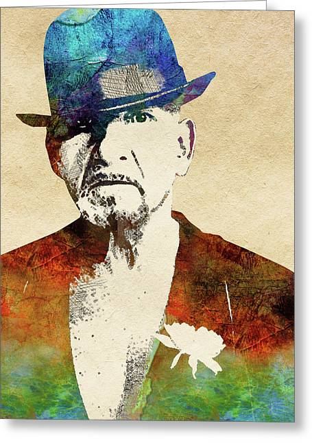 Ben Kingsley Greeting Card by Mihaela Pater