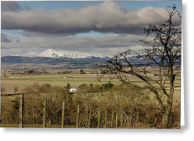 Greeting Card featuring the photograph Ben Ledi Across The Carse by RKAB Works