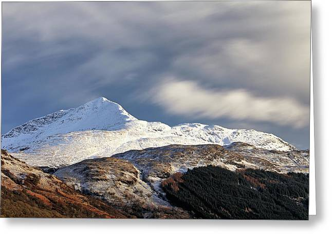 Greeting Card featuring the photograph Ben Lomond by Grant Glendinning