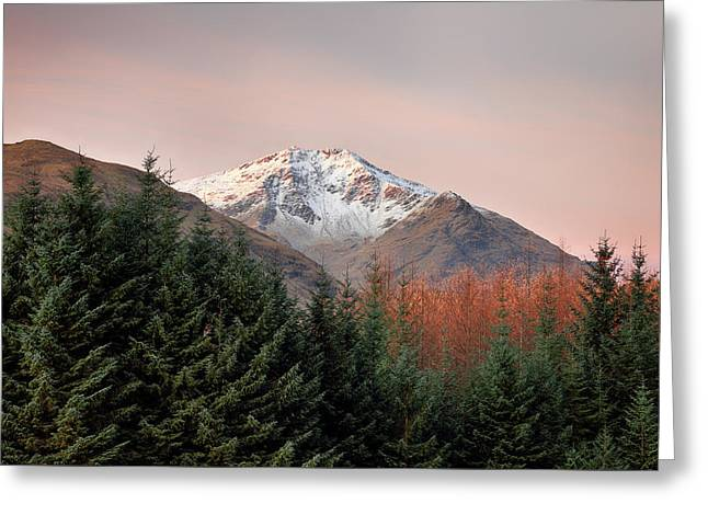 Greeting Card featuring the photograph Ben Lui Sunrise by Grant Glendinning