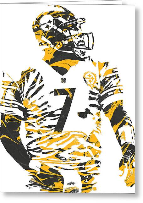 Ben Roethlisberger Pittsburgh Steelers Pixel Art 6 Greeting Card