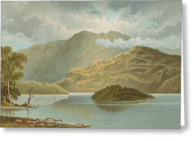 Ben Venue And Ellen's Isle   Loch Katrine Greeting Card