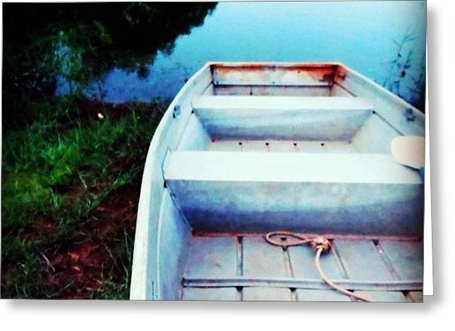 Rusted Boat Greeting Card by Jen McKnight