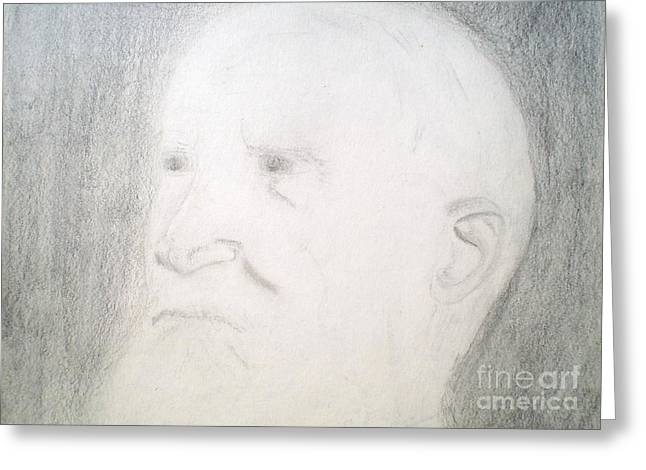 Benard Shaw Sketch Greeting Card
