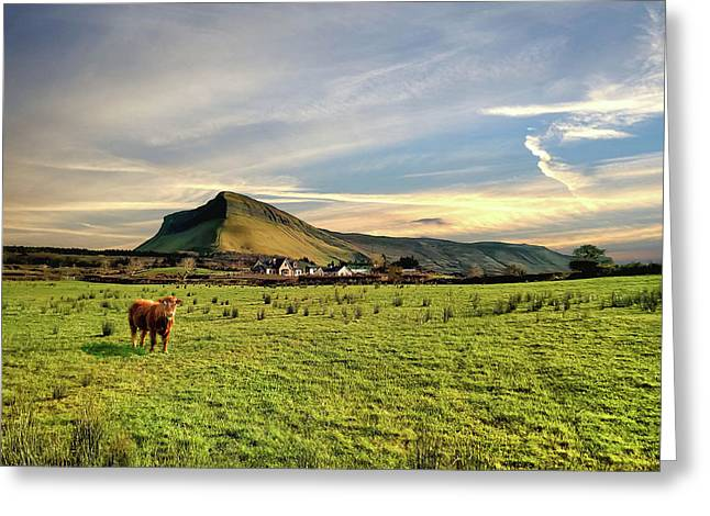Benbulben From Henry's Bar Greeting Card