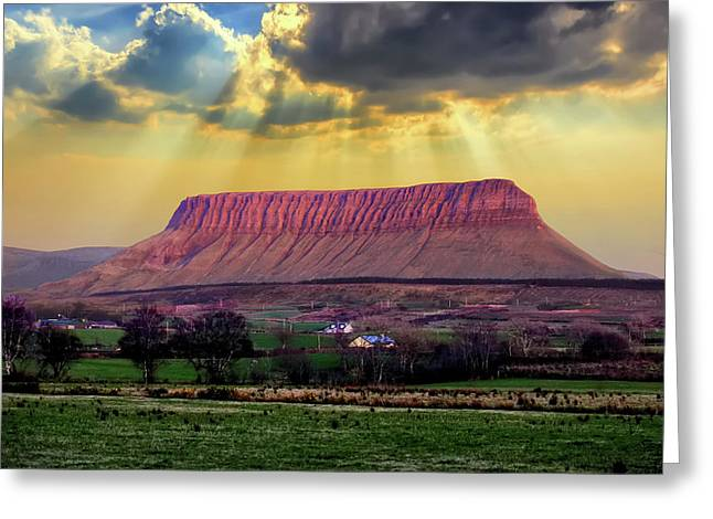 Benbulben In Co. Sligo Ireland Greeting Card