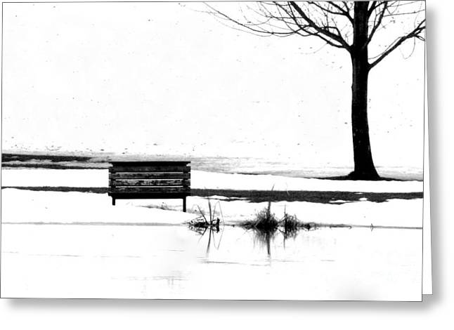 Bench 10 Greeting Card by Julie Lueders