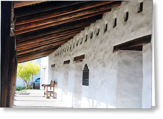 Bench At Mission San Francisco Solano  Greeting Card by Mic DBernardo