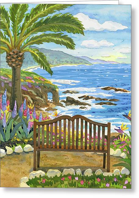 Bench At The Montage Greeting Card