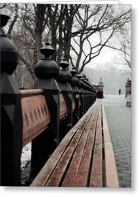 Bench Greeting Card by John-Marc Grob