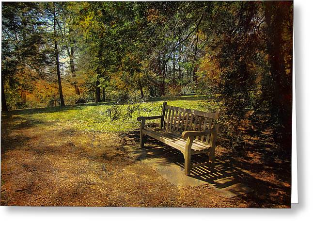Greeting Card featuring the photograph Bench by John Rivera
