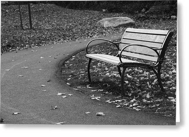 Bench On The Walk Greeting Card