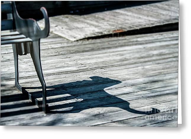 Bench Shadow Greeting Card