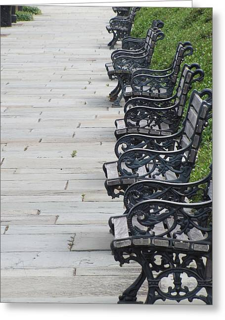 Benches In Charleston Sc Greeting Card by Jason Moore