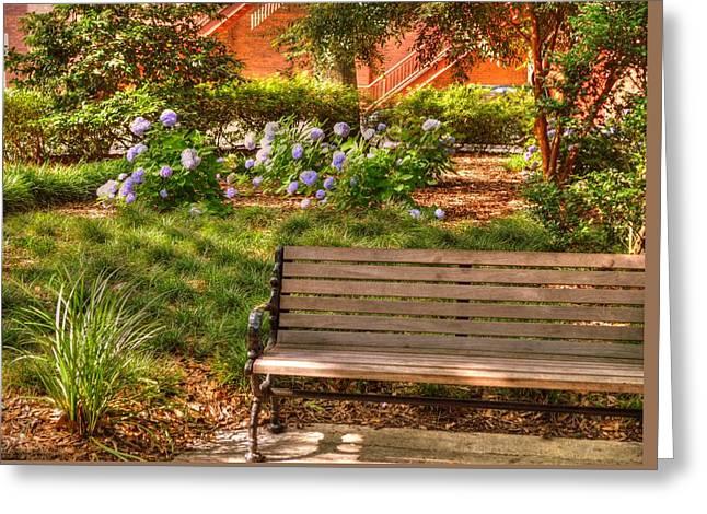 Benches Of Savannah Greeting Card