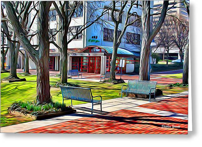 Benches Greeting Card by Stephen Younts