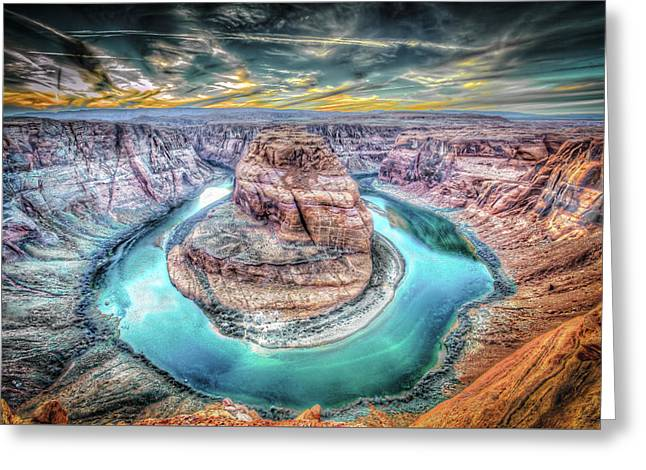 Bend In The River Greeting Card by Mark Dunton